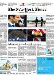 International New York Times — 1 June 2017