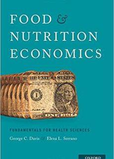 "George C. Davis, ""Food and Nutrition Economics: Fundamentals for Health Sciences"""