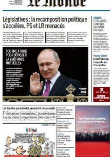 Le Monde du Mardi 30 Mai 2017