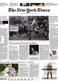 International New York Times – 9 June 2017