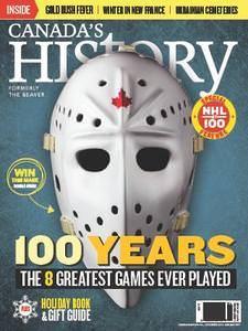 Canada's History – December 2016 – January 2017