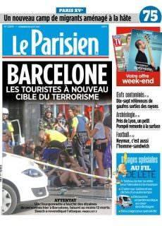 Le Parisien du Vendredii 18 Août 2017