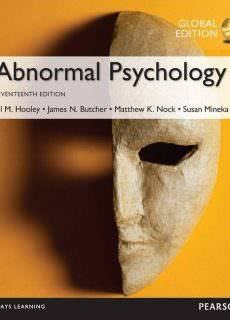 Abnormal Psychology, Global Edition [17. edition, global edition]