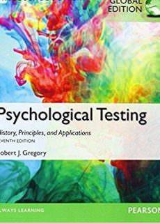 Psychological Testing History, Principles, and Applications, Global Edition, 7th edition