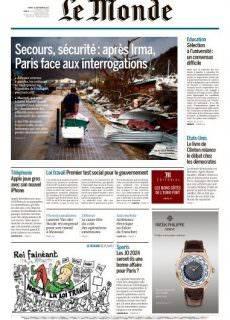 Le Monde du Mardi 12 Septembre 2017