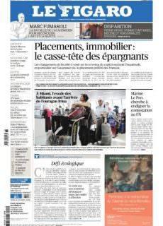 Le Figaro du Samedi 9 Septembre 2017
