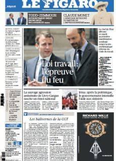Le Figaro du Mardi 12 Septembre 2017