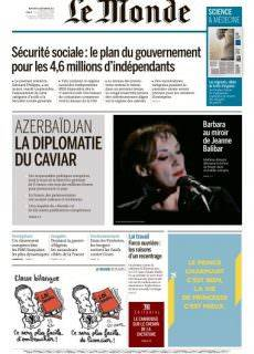 Le Monde du Mercredi 6 Septembre 2017