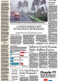 Wall Street Journal Thursday Sept 7, 2017 Europe