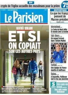 Le Parisien du Lundi 4 Septembre 2017