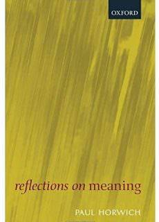 Reflections on Meaning