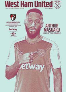 West Ham United Official Programmes — 20 January 2018