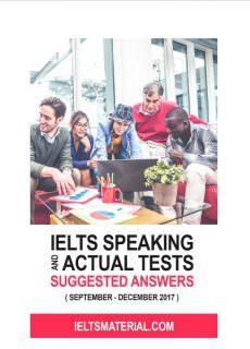 Ielts Speaking Actual Tests And Suggested Answers September