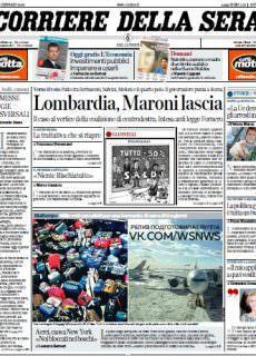 Corriere della Sera – 08.01.2018