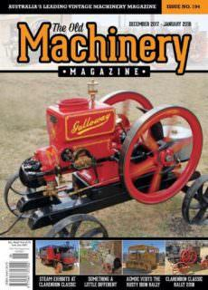 The Old Machinery Magazine — December 2017 — January 2018