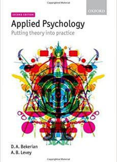 Applied Psychology Putting Theory into Practice, 2nd edition