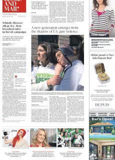 The Globe and Mail – March 26, 2018