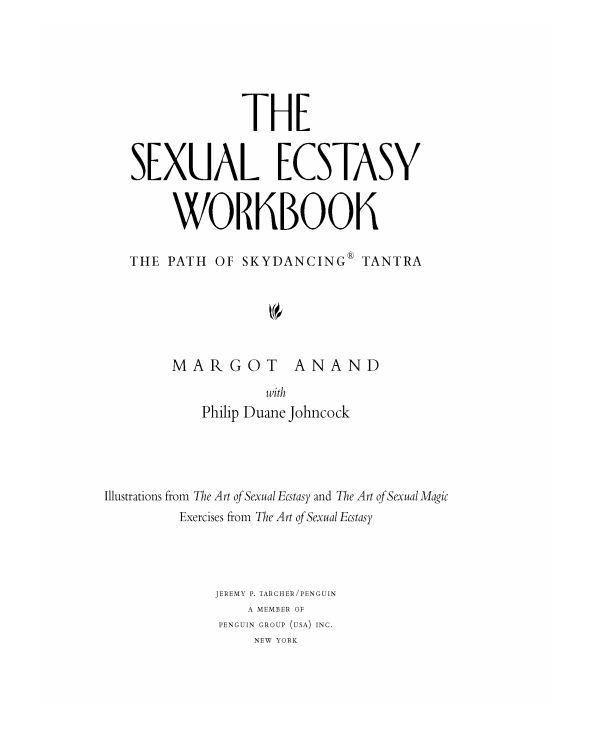 Download The Sexual Ecstasy Workbook Path Of SkyDancing Trantra