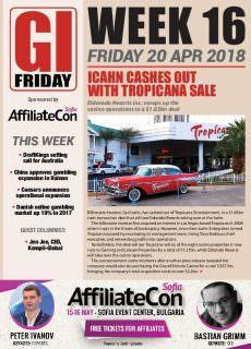 The Gambling Insider Friday – 19 April 2018