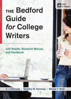 The Bedford Guide for College Writers with Reader, 10th edition
