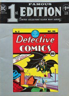 Famous First Editions C-28 (Detective Comics 27) c2c DC 1974