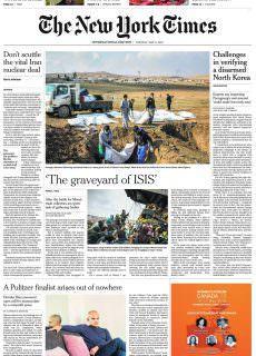 International New York Times – 08 May 2018
