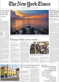 International New York Times – 01 June 2018