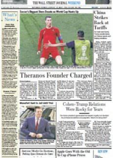The Wall Street Journal – June 16-17, 2018