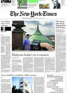 International New York Times – 16 June 2018