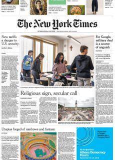 International New York Times – 02 June 2018