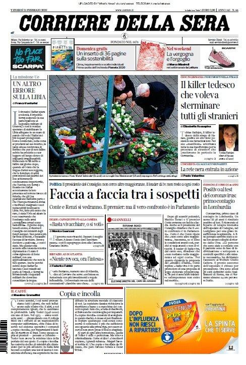 Corriere Della Sera 21 02 2020 Magazines Pdf Download Free